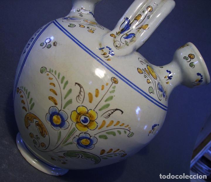 Antigüedades: BOTIJO CERÁMICA DE TALAVERA XIX – XX ( JUAN RUIZ DE LUNA ) - Foto 15 - 87404756