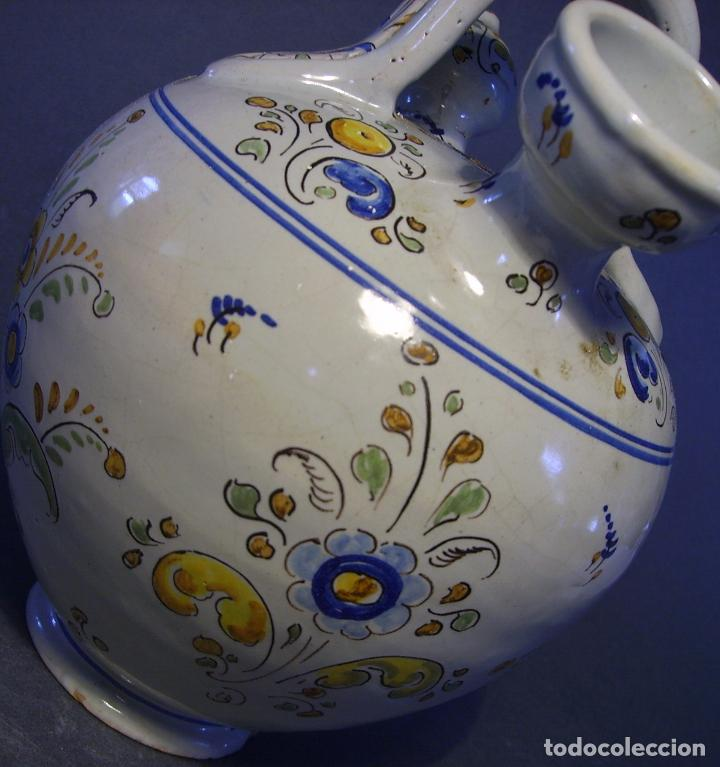 Antigüedades: BOTIJO CERÁMICA DE TALAVERA XIX – XX ( JUAN RUIZ DE LUNA ) - Foto 16 - 87404756