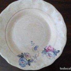 Antigüedades: MUY ANTIGUO PLATO, HONDO, FLOREADO.. Lote 87414432