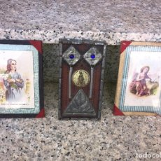 Antigüedades: FOTOS DE VIRGENES Y EN EL CENTRO LABOR DE MONJAS CON MEDALLA DE LA INMACULADA. Lote 87416172