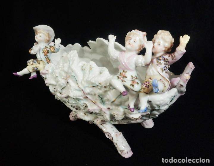Antigüedades: Excepcional composición de niños en porcelana vitrificada, Alemania ca 1900 - Foto 4 - 87432748