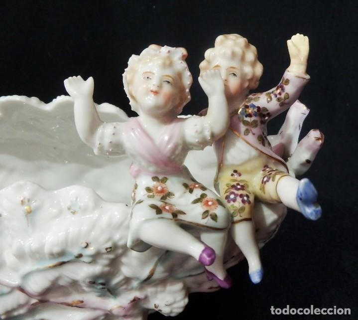 Antigüedades: Excepcional composición de niños en porcelana vitrificada, Alemania ca 1900 - Foto 5 - 87432748