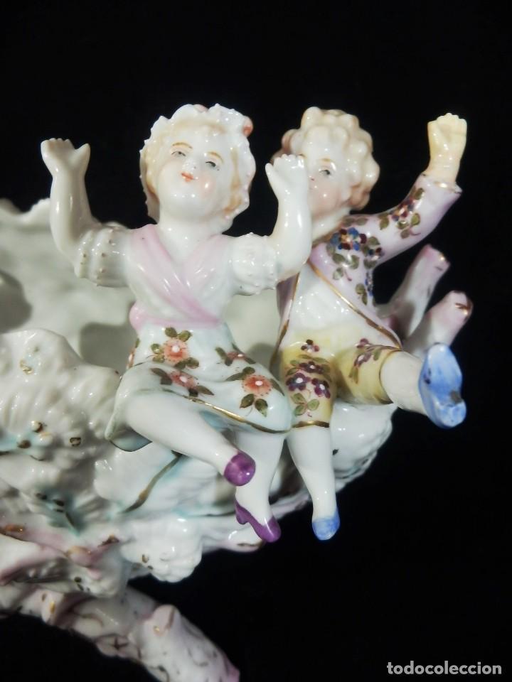 Antigüedades: Excepcional composición de niños en porcelana vitrificada, Alemania ca 1900 - Foto 7 - 87432748
