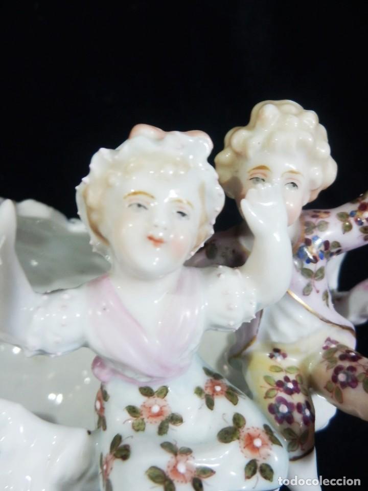 Antigüedades: Excepcional composición de niños en porcelana vitrificada, Alemania ca 1900 - Foto 12 - 87432748