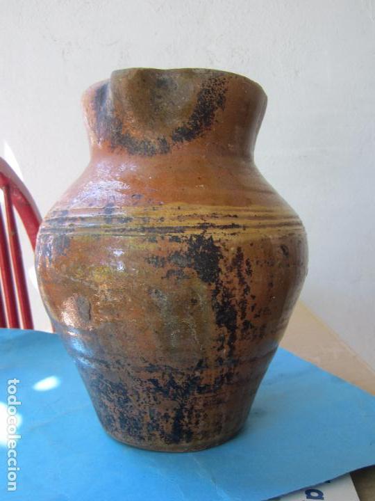 Antigüedades: jarra para aceite o vino de ceramica , desconozco zona - Foto 2 - 87433256