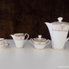 Antigüedades: JUEGO DE CAFE DE PORCELANA NORITAKE, VINTAGE. 12 SERVICIOS. NUEVO, A ESTRENAR!. Lote 87445164