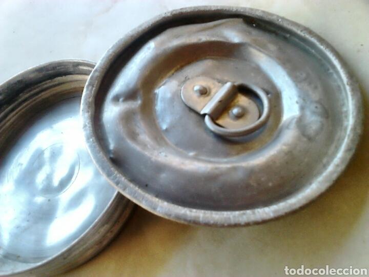 Antigüedades: Lote 2,antiguas tapas de bote, de aluminio,ideal restauradores, ver fotos - Foto 4 - 87447408