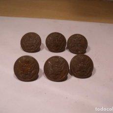 Antigüedades: 6 BOTONES ANTIGUOS DE CAZA. Lote 87462588