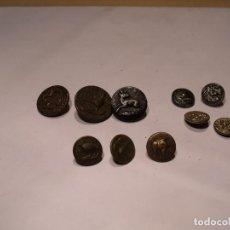 Antigüedades: 10 BOTONES ANTIGUOS DE CAZA. Lote 87462824