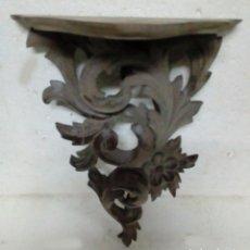 Antigüedades: REPISA DE MADERA TALLADA A MANO. Lote 87463996