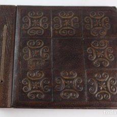 Antigüedades: ALBUM DE FOTOGRAFIAS EN PIEL REPUJADA. S.XX.. Lote 87492236