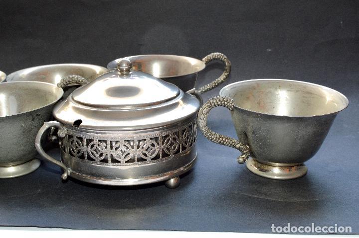 Antigüedades: AZUCARERA Y CINCO TAZAS - Foto 6 - 87507432