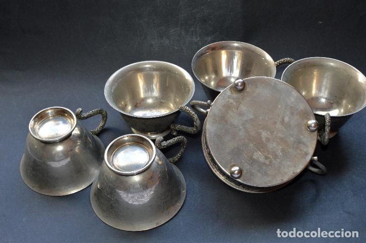 Antigüedades: AZUCARERA Y CINCO TAZAS - Foto 7 - 87507432