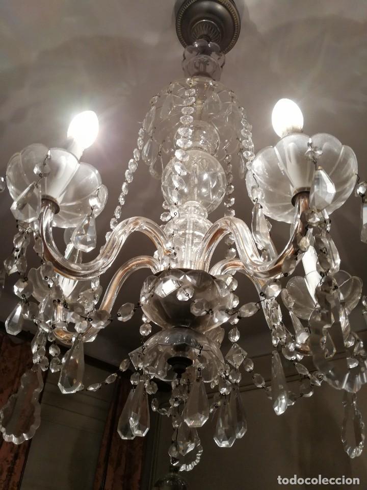 Antigua lampara estilo isabelino de ara a toda comprar l mparas antiguas en todocoleccion - Lamparas de arana de cristal ...