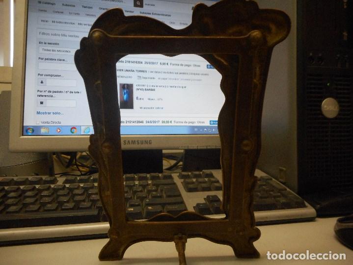 Antigüedades: portafotos portaretratos marco de bronce original modernista - Foto 5 - 134403774