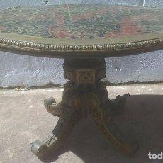 Antigüedades: MESA DE CENTRO BAJA. LUIS XV VON REMATES DE BRONCE. Lote 87568876