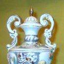 Antigüedades: JARRA CON ASAS Y TAPA ALCOBASA PORTUGAL. REF. 651. Lote 87574992
