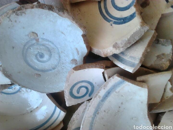 Antigüedades: Antiguos trozos, platos cerámica artesana,alfareros teruel,siglo XIX,ideal restauradores - Foto 3 - 111672008