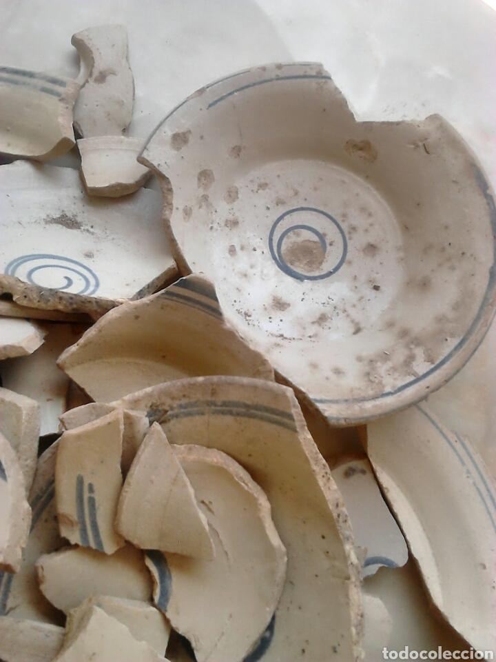 Antigüedades: Antiguos trozos, platos cerámica artesana,alfareros teruel,siglo XIX,ideal restauradores - Foto 6 - 111672008