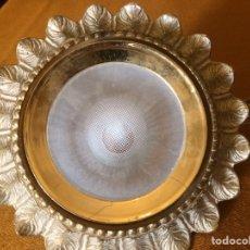 Antigüedades: DOS PLAFONES PARA HALÓGENO/LED EN BRONCE. Lote 87588882
