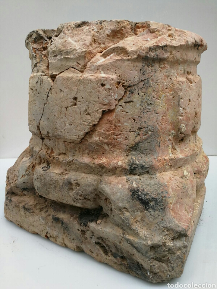 Antigüedades: ANTIGUA BASE BASA DE COLUMNA MÁRMOL ROJO - Foto 8 - 87591319