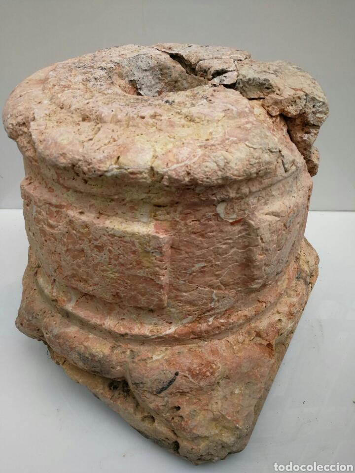 Antigüedades: ANTIGUA BASE BASA DE COLUMNA MÁRMOL ROJO - Foto 11 - 87591319
