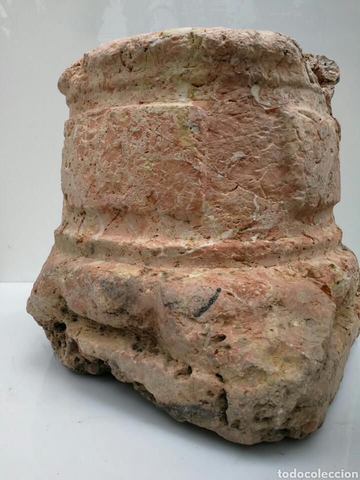 Antigüedades: ANTIGUA BASE BASA DE COLUMNA MÁRMOL ROJO - Foto 12 - 87591319