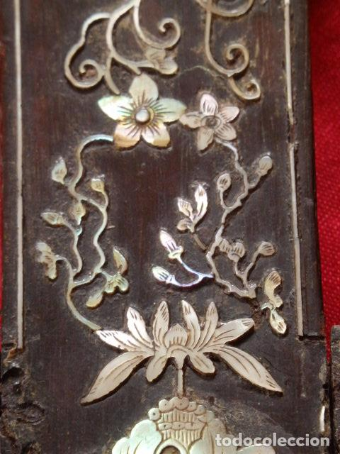 Antigüedades: Cruz filipina con incrustaciones de nácar. 46,5 cm. Siglo XIX. - Foto 7 - 87613588