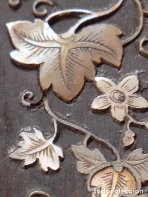 Antigüedades: Cruz filipina con incrustaciones de nácar. 46,5 cm. Siglo XIX. - Foto 8 - 87613588