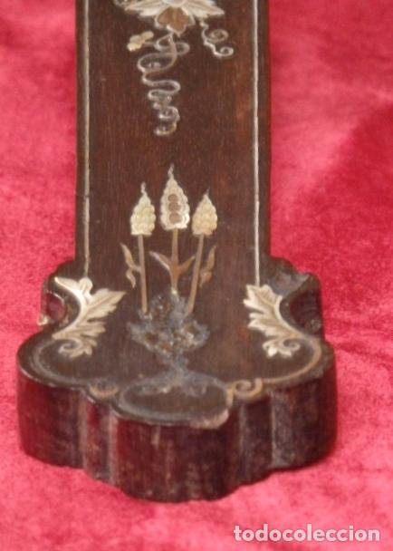 Antigüedades: Cruz filipina con incrustaciones de nácar. 46,5 cm. Siglo XIX. - Foto 11 - 87613588