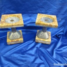 Antigüedades: PAREJA DE GUARNICION MODERNISTA. Lote 87631688