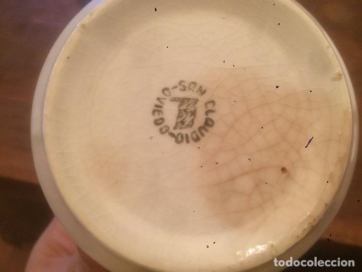 Antigüedades: Antigua taza de ceramica marca San Claudio de los años 30-40 con bonito dibujo - Foto 6 - 87640328