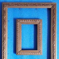 Antigüedades: LOTE DE 2 ANTIGUOS MARCOS PORTA RETRATOS DE EPOCA. Lote 87664256
