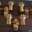 Antigüedades: 3 APLIQUES AÑOS 40. Lote 87688184