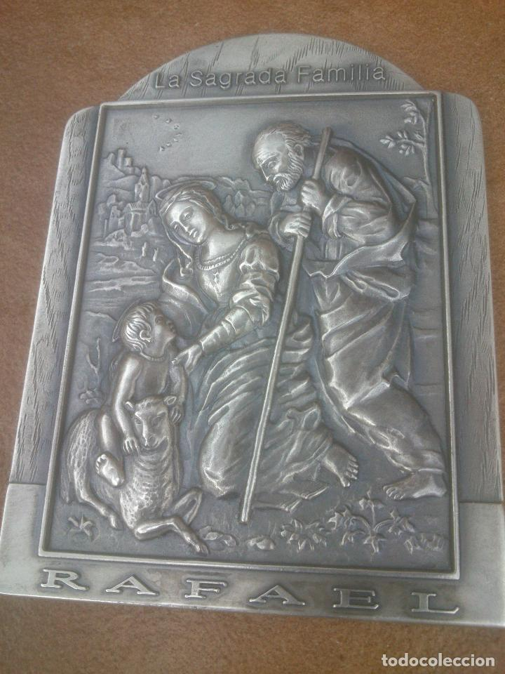 RELIEVE LA SAGRADA FAMILIA DEL CORDERO. RAFAEL DE URBINA (Antigüedades - Religiosas - Varios)