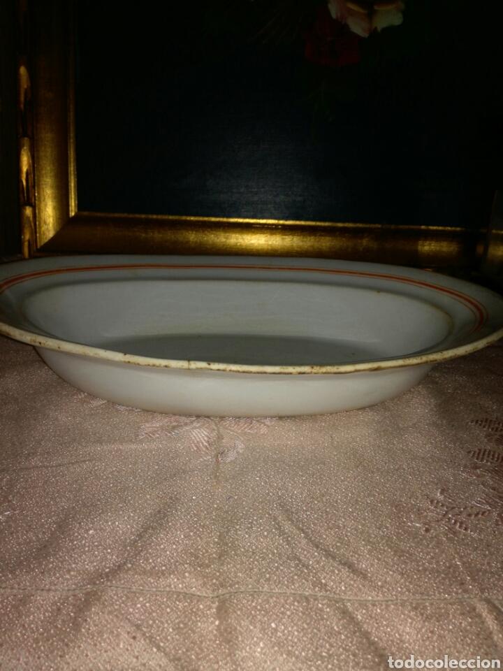 Antigüedades: Fuente ovalada Pickman La Cartuja medalla de oro - Foto 2 - 87693720