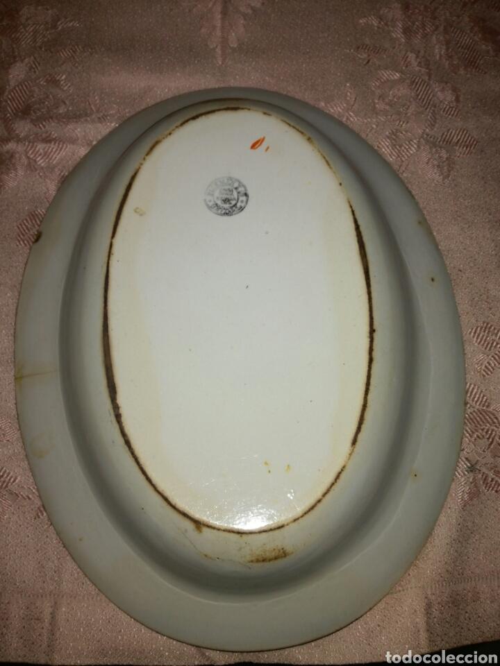 Antigüedades: Fuente ovalada Pickman La Cartuja medalla de oro - Foto 3 - 87693720