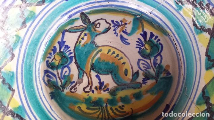 Antigüedades: antiguo lebrillo de triana, pintado a mano - Foto 2 - 149528644