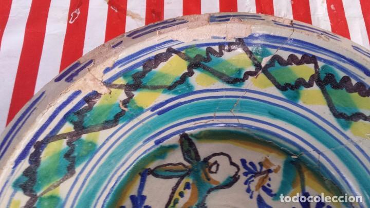 Antigüedades: antiguo lebrillo de triana, pintado a mano - Foto 3 - 149528644
