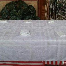 Antigüedades: PRECIOSA MANTELERIA DE 6 SERVICIOS. Lote 87700228