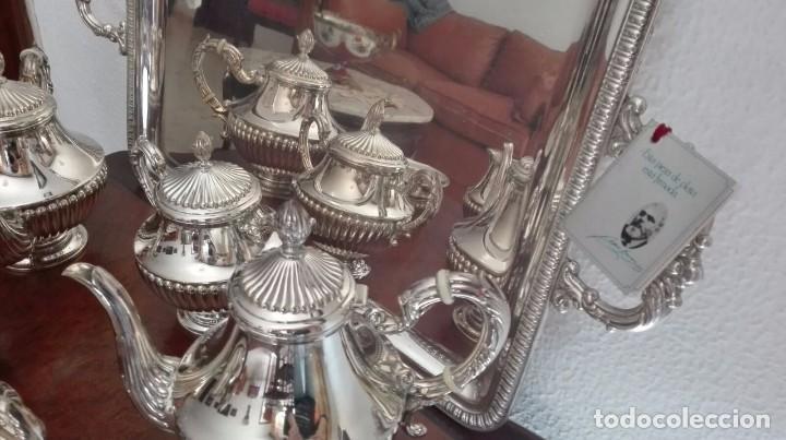 Antigüedades: juego de café y té de plata de ley - Foto 2 - 87720624