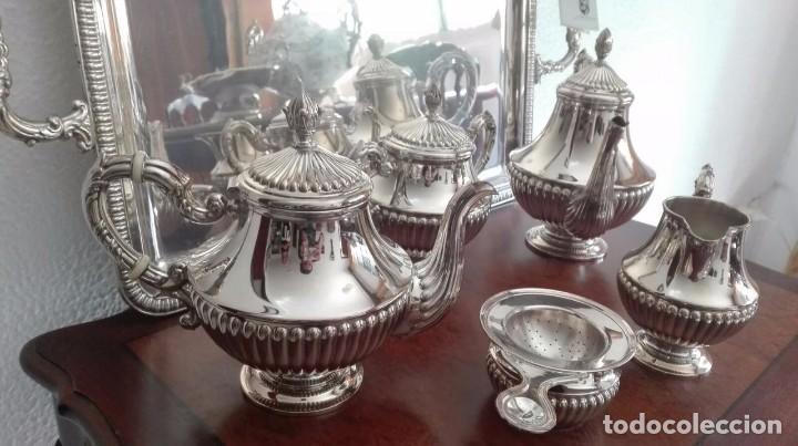 Antigüedades: juego de café y té de plata de ley - Foto 3 - 87720624