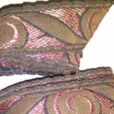 Antigüedades: GALONE GALONES ANTIGUOS PARA LA LITURGIA SEMANA SANTA HILO COBRE O ORO METAL , VER FOTOS VIRGEN. Lote 220992436