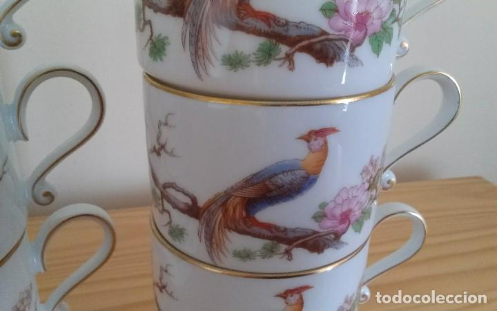 Antigüedades: Tazas porcelana alemana Heinrich - Foto 2 - 145092204