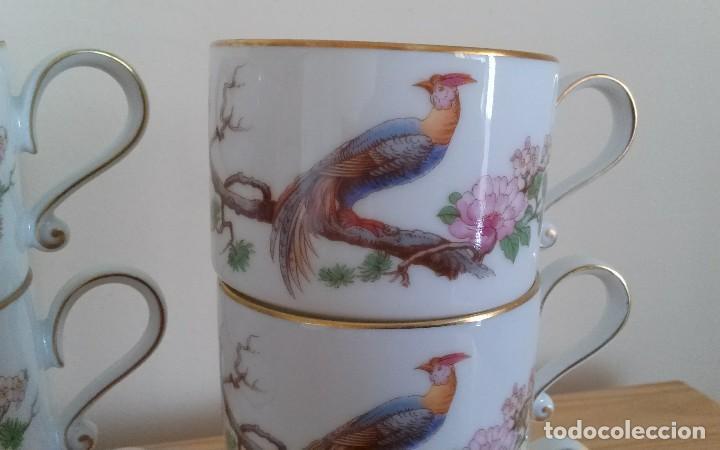 Antigüedades: Tazas porcelana alemana Heinrich - Foto 3 - 145092204