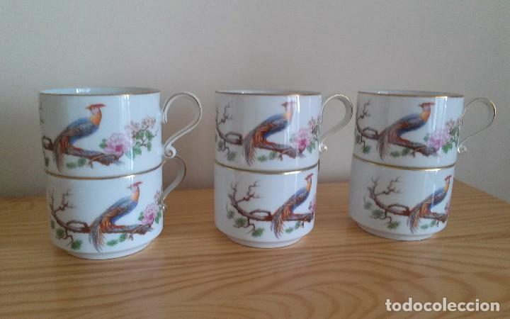 Antigüedades: Tazas porcelana alemana Heinrich - Foto 8 - 145092204