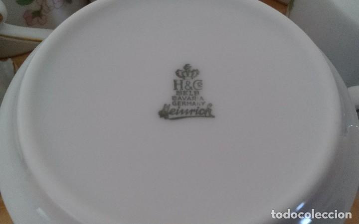 Antigüedades: Tazas porcelana alemana Heinrich - Foto 10 - 145092204