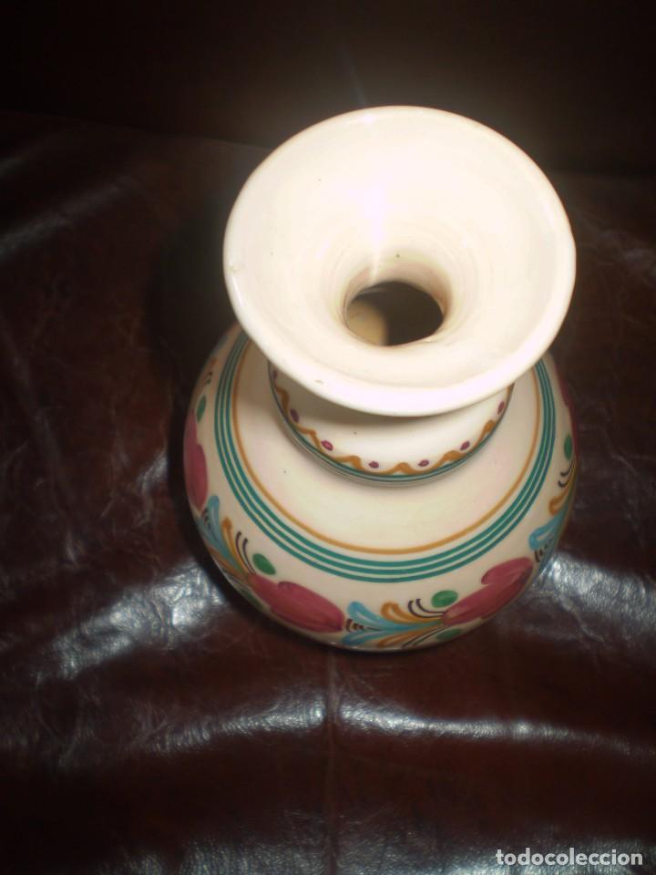 Antigüedades: JARRONCITO DE CERAMICA PINTADO A MANO - Foto 2 - 87833648