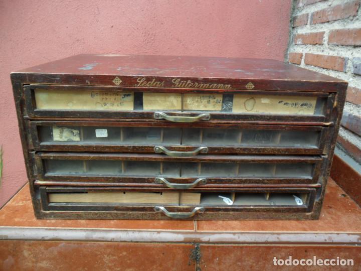 CAJONERA - ARCHIVADOR - DE MERCERIA - DE LA CASA SEDAS GÜTERMANN - ANTIGUO (Antigüedades - Muebles Antiguos - Auxiliares Antiguos)