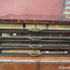Antigüedades: CAJONERA - ARCHIVADOR - DE MERCERIA - DE LA CASA SEDAS GÜTERMANN - ANTIGUA. Lote 158580605
